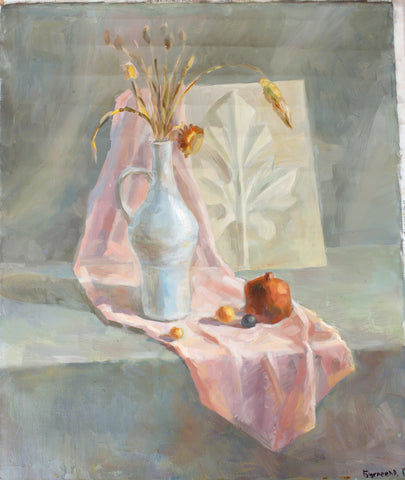 Still life in light tones by Regina Bugleeva, 60cm*50cm, oil painting