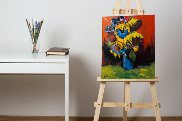 Sunflowers by Albert Chatinyan, 55cm*45cm, oil painting