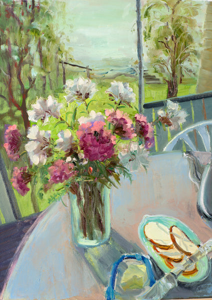 Breakfast in the countryside by Elvira Isaeva,  50cm *40cm,  oil painting