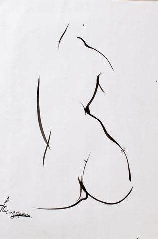 Composition #15 by Rita Pandaria, 43.5cm*56cm, ink drawing
