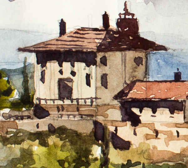House in Florence by Aleksei Tupeiko, 54.5*29cm, watercolor