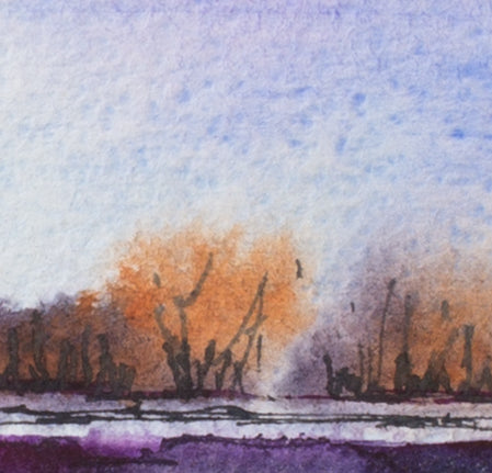 At dusk by Irina Shoulenkova, 45cm*36cm, watercolor