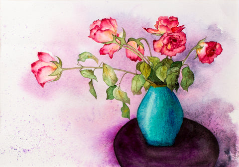 Roses by Irina Shoulenkova, 42cm*53cm, watercolor