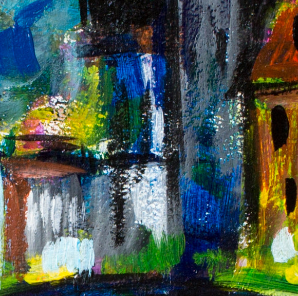 Night in Bruges by Tatyana Gogoloshvilli, 54cm*72cm, mixed media