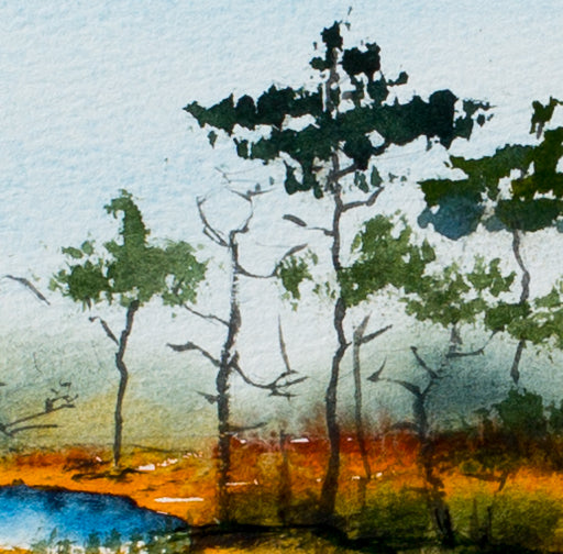 Lake land by Irina Shoulenkova, 40.5cm*52cm, watercolor