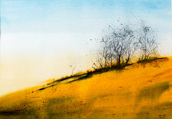 Yellow hill by Irina Shoulenkova, 52cm*43cm, watercolor