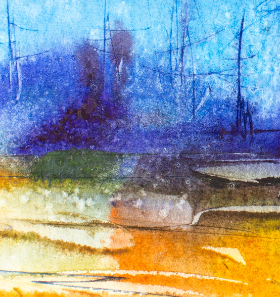 Forrest at night by Yuriy Bruhanov, 65cm*50cm, watercolour