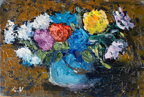 Summer bouquet by Ludmila Volostnova, 10cm*15cm.  oil painting