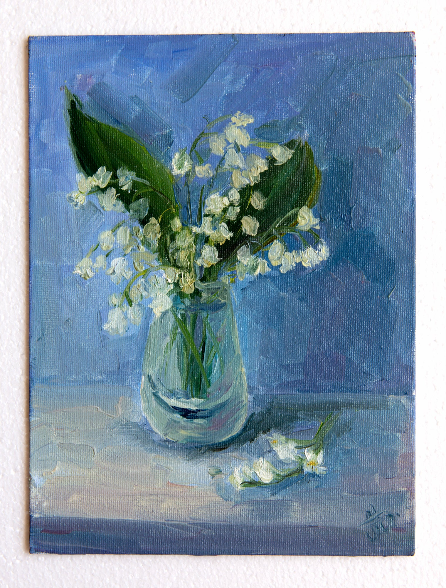 Lilies of the valley by Nataliya Mescheryakova, 18cm*24cm, oil painting