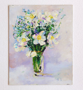 Anemones by Kristina Shestakova, 30cm*24cm, oil painting