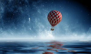 Balloon journey by Sergey Nivens, digital canvas print, various sizes
