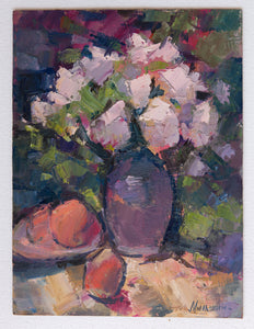 Still life in the garden by Andrey Milshin, 40cm*30cm, oil painting