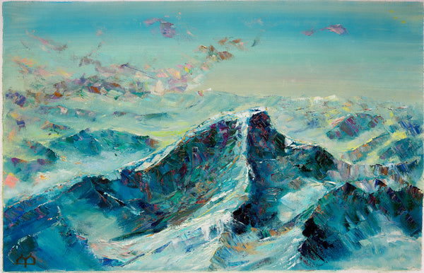 Mountains and a cloud by Arthur Abagyan, 60cm*90cm, oil painting