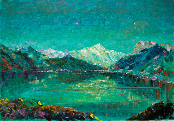 Icy lake by Arthur Abagyan, 70cm*95cm, oil painting