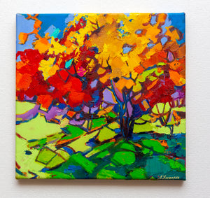 Autumn shadows by Levon Hachatryan, 36cm*37cm,  oil painting