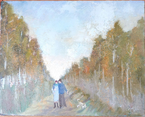 A promenade by Elvira Isaeva, 50cm*40cm., oil painting