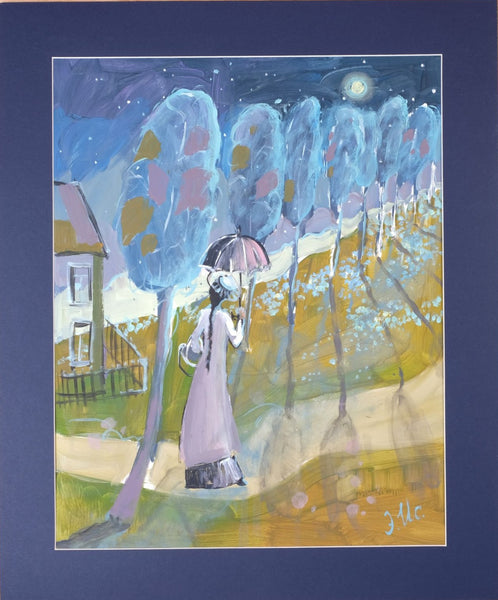 Under the stars looking for flowers by Elvira Isaeva, 50cm*40cm., acrylic painting