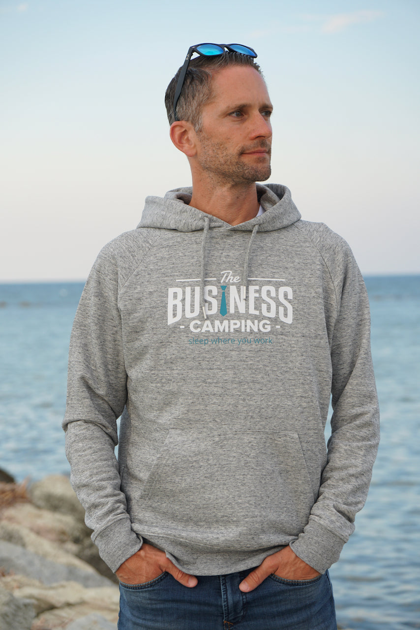 Hoodie Business Camping (WORKER) - grau