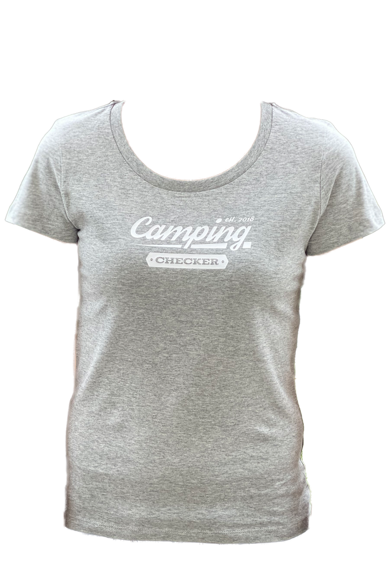 T-Shirt Camping Checker DAMEN