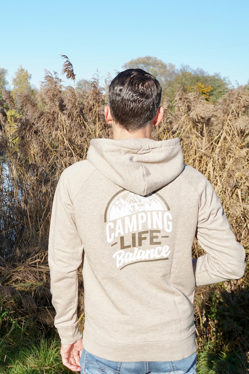 Hoodie Camping Life Balance sand (WORKER)