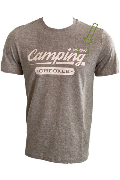 T-Shirt Camping Checker
