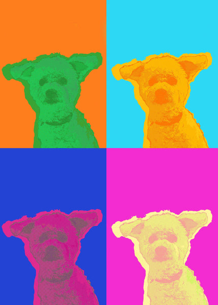 POP ART 4 Farger HappilyEverAfter