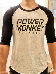 Power Monkey Fitness Unisex Baseball T-shirt