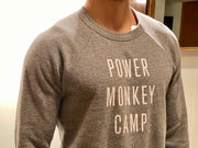Power Monkey Camp Unisex Crewneck