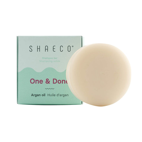 One & Done Argan Oil Shampoo Bar, plastic free, zero waste, sustainable, Mos eco store, Portugal, Europe,