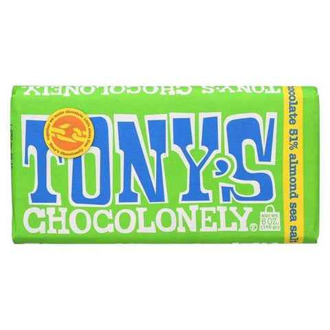 Tony's Chocolonely: Vegan Almond & Sea Salt Dark Chocolate