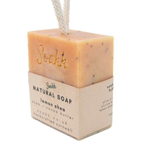 Soap on a rope - Lemon Shea - Mos eco store