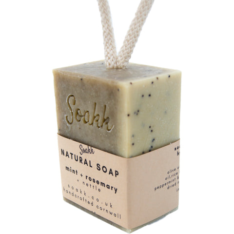 Soap on a rope - Rosemary, Mint and Nettle - Mos eco store