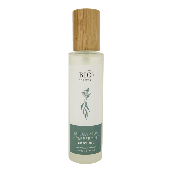 Eucalyptus & peppermint body oil - Natural, plastic free, zero waste, sustainable, Mos eco store, Portugal, Europe,