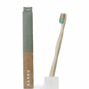 Bamboo toothbrush - Soft bristles - Green - Banbu
