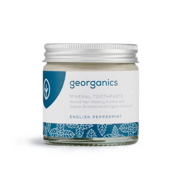 Peppermint Toothpaste in a Jar - Georganics - Mos eco store