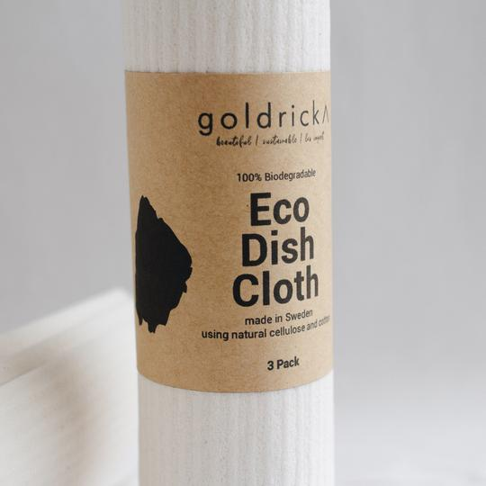 Eco Dish Cloth - Pack of 3, plastic free, zero waste, sustainable, Mos eco store, Portugal, Europe,