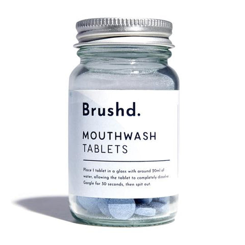 Mouthwash Tablets - Peppermint 120, plastic free, zero waste, sustainable, Mos eco store, Portugal, Europe,