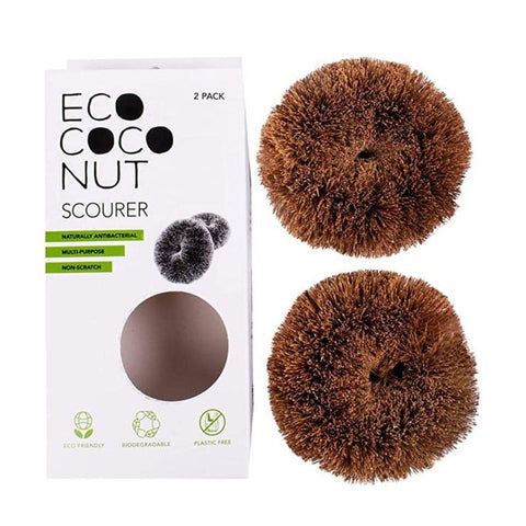 EcoCoconut Twin Pack Scourers - Mos eco store