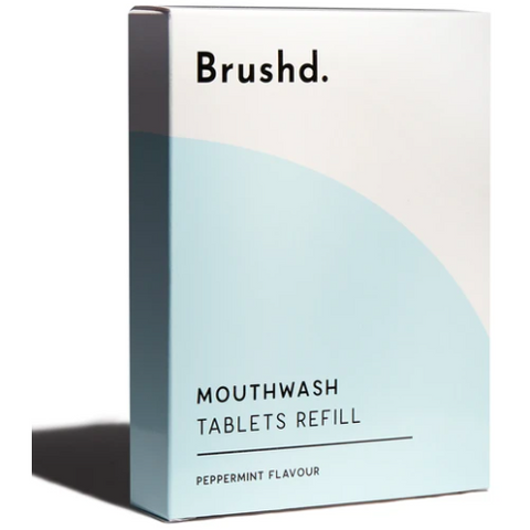 Refill Mouthwash Tablets - Peppermint 120, plastic free, zero waste, sustainable, Mos eco store, Portugal, Europe,