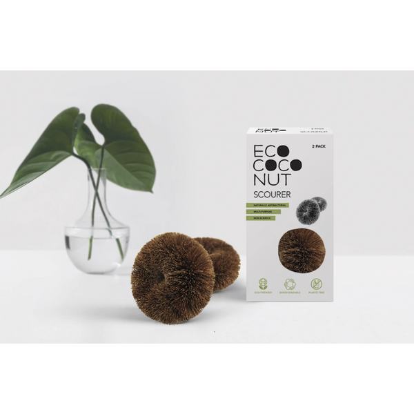 EcoCoconut Twin Pack Scourers, plastic free, zero waste, sustainable, Mos eco store, Portugal, Europe,