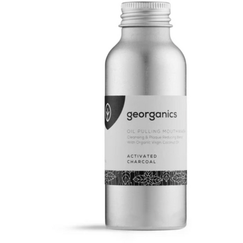 Oil Pulling Mouthwash - Activated Charcoal - Georganics - Mos eco store