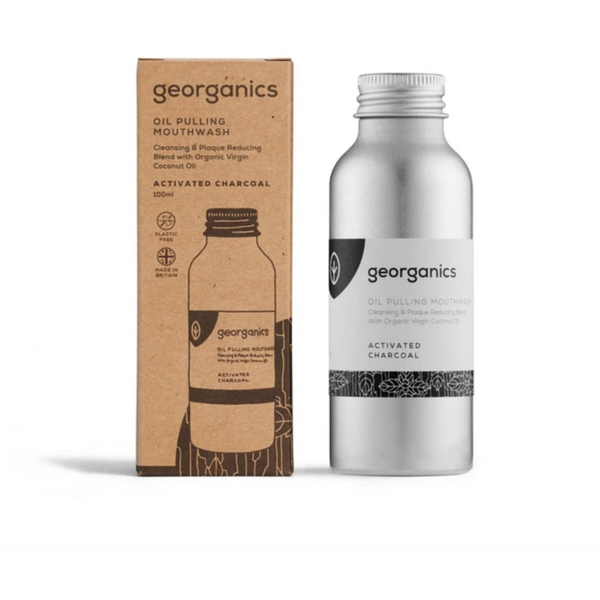 Oil Pulling Mouthwash - Activated Charcoal - Georganics