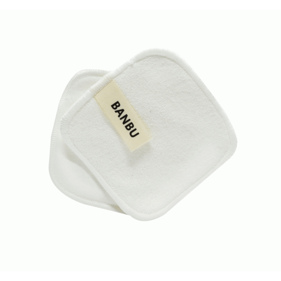 White reusable makeup remover pads - Banbu - Mos eco store