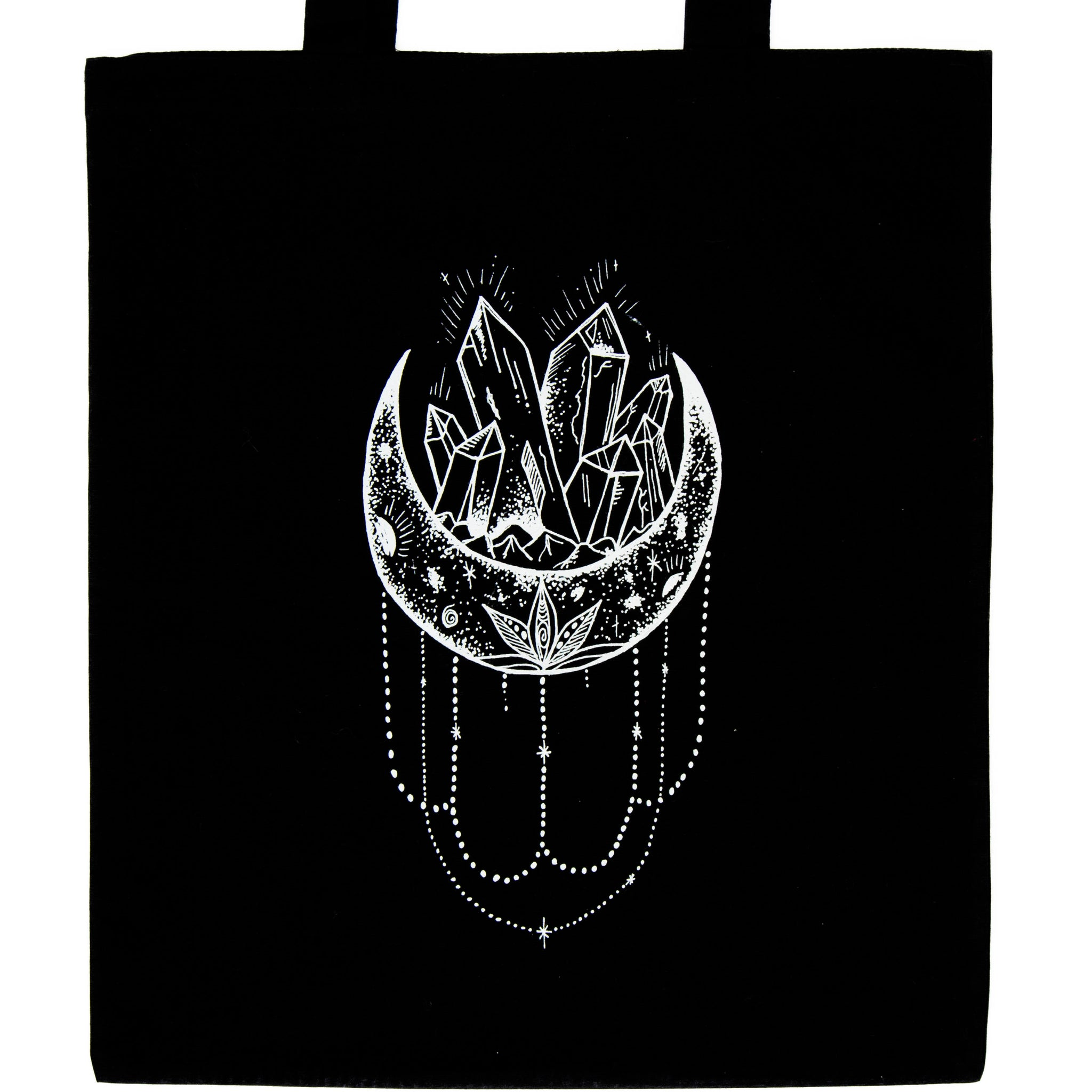 Lunar Crystals tote black, plastic free, zero waste, sustainable, Mos eco store, Portugal, Europe,