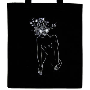 BrainFlower Goddess Tote Black, plastic free, zero waste, sustainable, Mos eco store, Portugal, Europe,