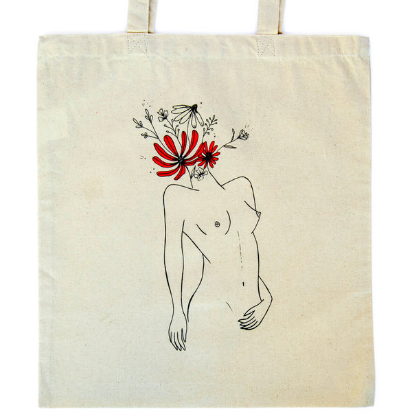 BrainFlower Goddess Tote, plastic free, zero waste, sustainable, Mos eco store, Portugal, Europe,