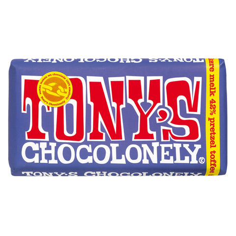 Tony's Chocolonely Dark Milk Pretzel & Toffee 180g