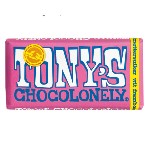 Tony's Chocolonely White Raspberry Popping Sugar 180g