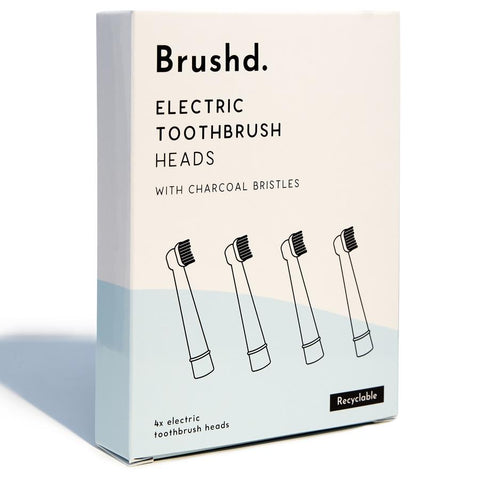 Re-Cyclable Electric Toothbrush Head 4pcs - Mos eco store