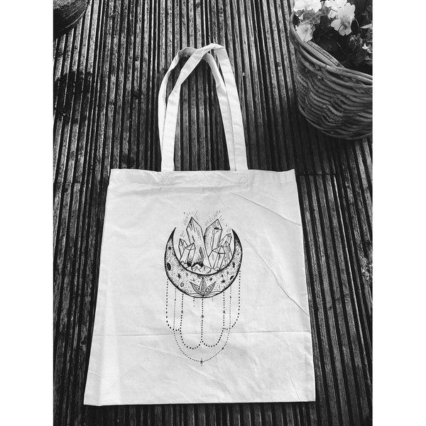 Lunar Crystals tote beige, plastic free, zero waste, sustainable, Mos eco store, Portugal, Europe,